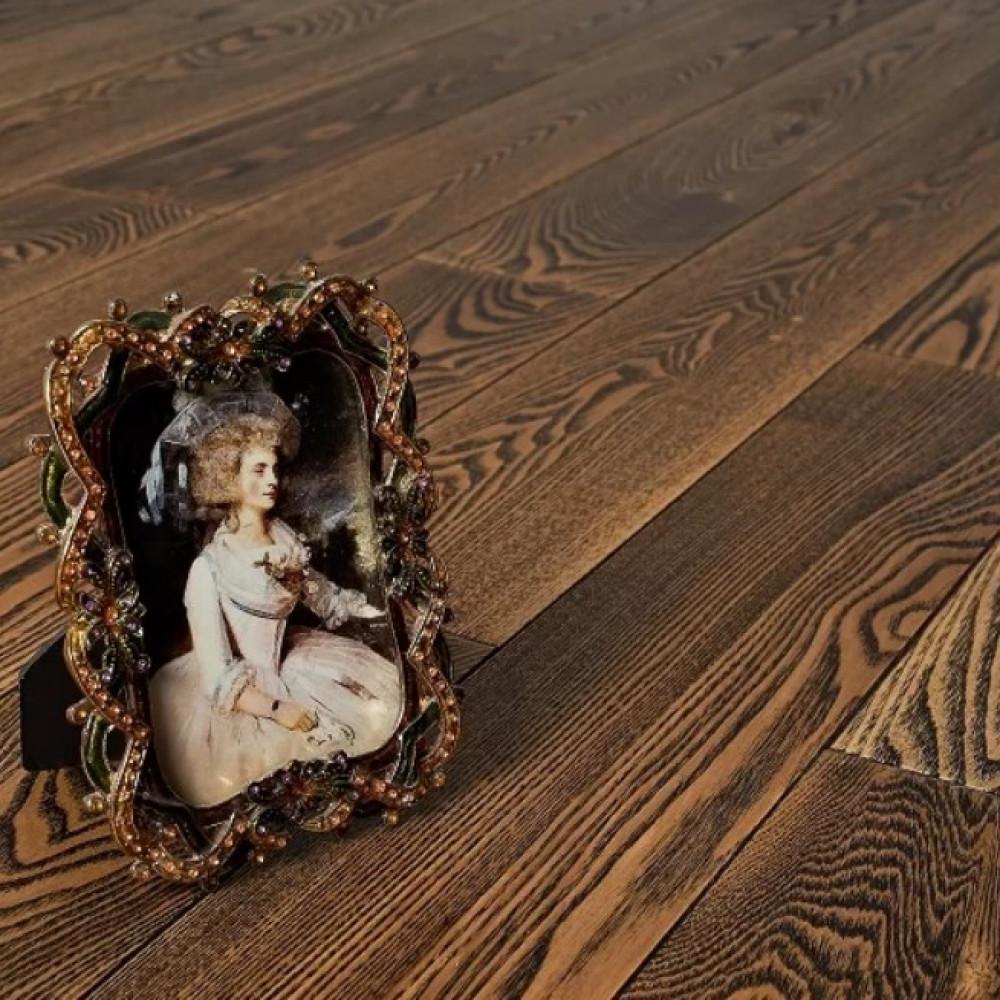 Массивная доска Amber Wood Ясень Коттедж брашированная