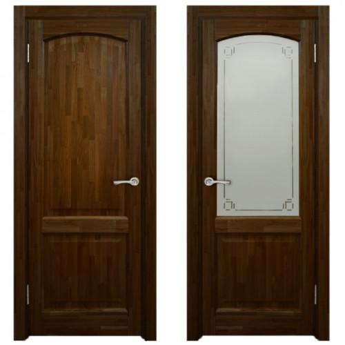 Двери из массива дуба Классика №5 цвет Бренди