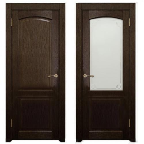 Двери из массива дуба Классика №5 цвет Мореный дуб