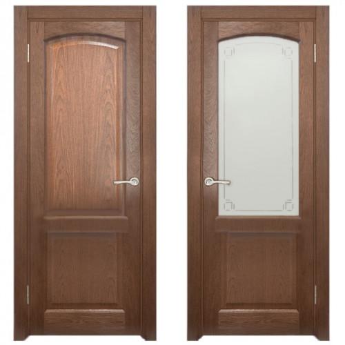 Двери из массива дуба Классика №5 цвет Капучино