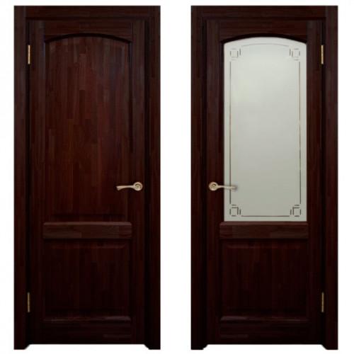 Двери из массива дуба Классика №5 цвет Вишня