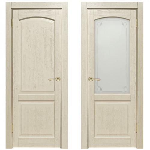 Двери из массива дуба Классика №5 цвет Слоновая кость