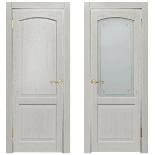 Двери из массива дуба Классика №5 цвет Белая эмаль
