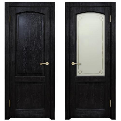 Двери из массива дуба Классика №5 цвет Седой венге