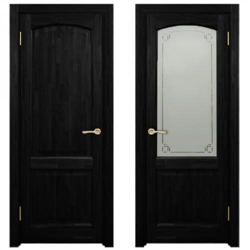 Двери из массива дуба Классика №5 цвет Венге