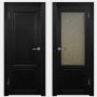 Двери из массива дуба Классика №1 цвет Венге