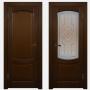 Двери из массива дуба Классика №1 цвет Бренди