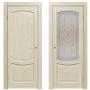 Двери из массива дуба Классика №1 цвет Слоновая кость