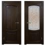 Двери из массива дуба Классика №1 цвет Миланский орех