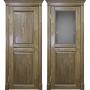 Двери из массива дуба Классика №2 цвет Светлый орех