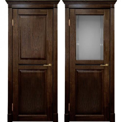 Двери из массива дуба Классика №2 цвет Мореный дуб