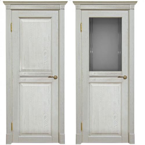 Двери из массива дуба Классика №2 цвет Белая эмаль