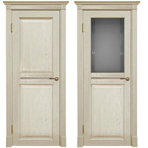 Двери из массива дуба Классика №2 цвет Слоновая кость