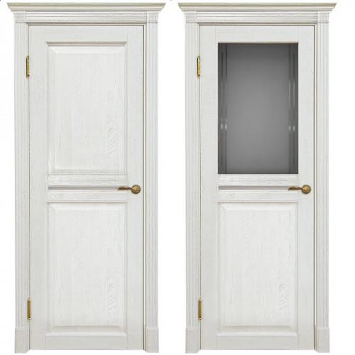 Двери из массива дуба Классика №2 цвет Белое золото