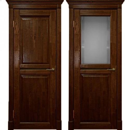 Двери из массива дуба Классика №2 цвет Бренди