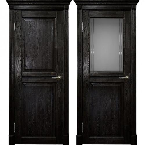 Двери из массива дуба Классика №2 цвет Седой венге