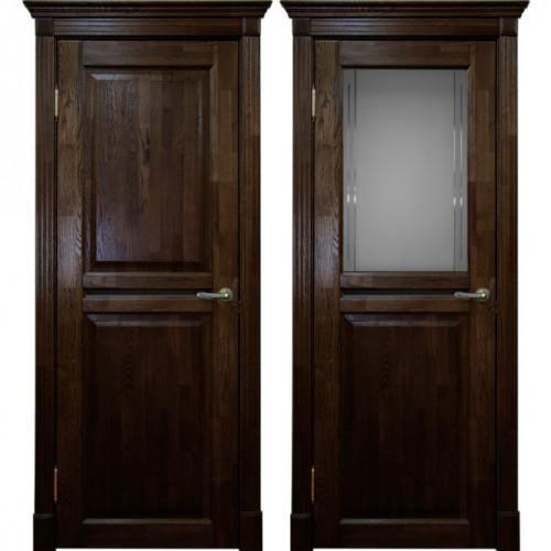 Двери из массива дуба Классика №2 цвет Миланский орех