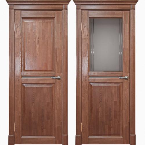 Двери из массива дуба Классика №2 цвет Капучино