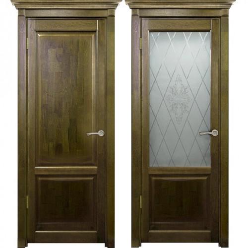Двери из массива дуба Классика №3 цвет Золотой орех
