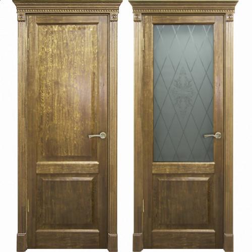 Двери из массива дуба Классика №3 цвет Дуб натуральный