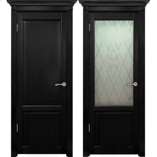 Двери из массива дуба Классика №3 цвет Венге