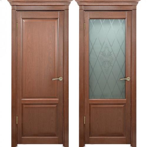 Двери из массива дуба Классика №3 цвет Капучино