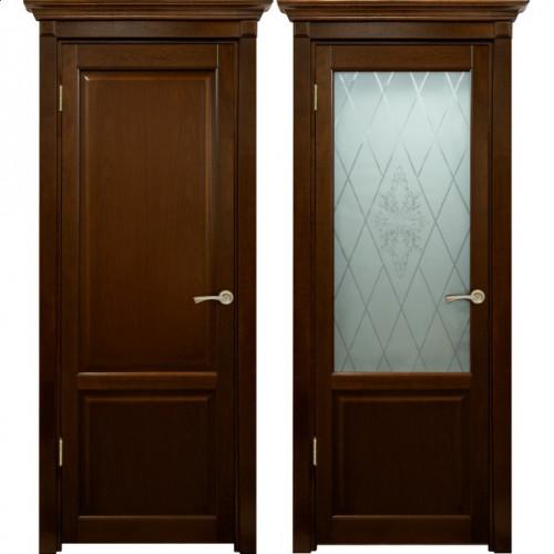 Двери из массива дуба Классика №3 цвет Бренди