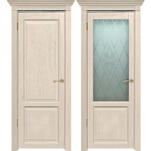 Двери из массива дуба Классика №3 цвет Слоновая кость