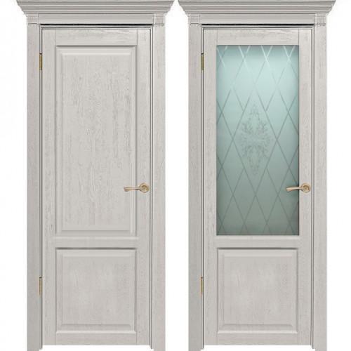 Двери из массива дуба Классика №3 цвет Белая эмаль