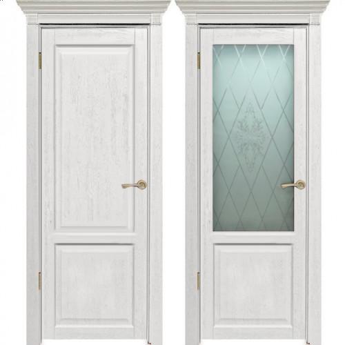 Двери из массива дуба Классика №3 цвет Белое золото