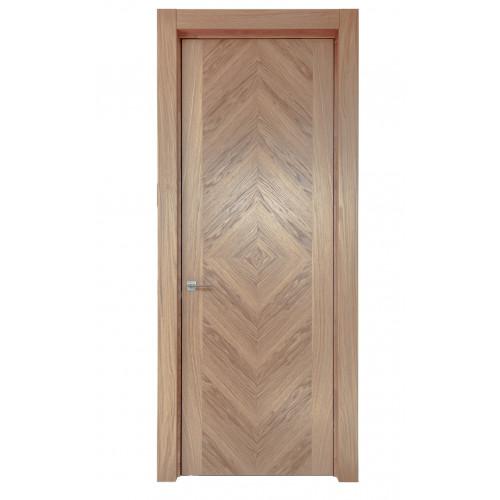 Двери из массива дуба Дублин цвет Беленый