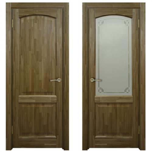 Двери из массива дуба Классика №5 цвет Дуб натуральный