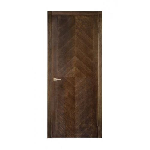Двери из массива дуба Дублин цвет Темный шоколад