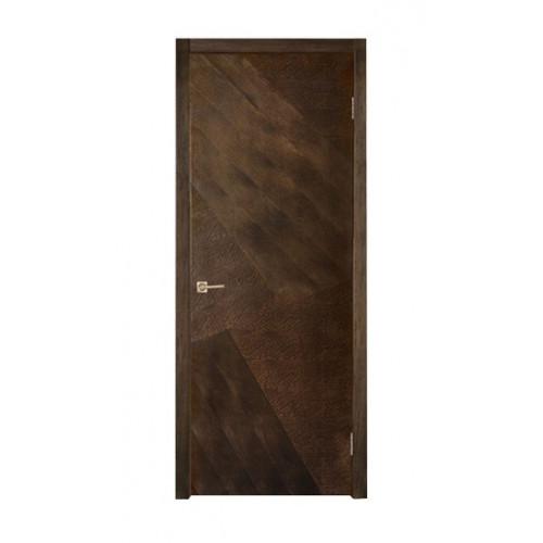 Двери из массива дуба Прага цвет Шоколад